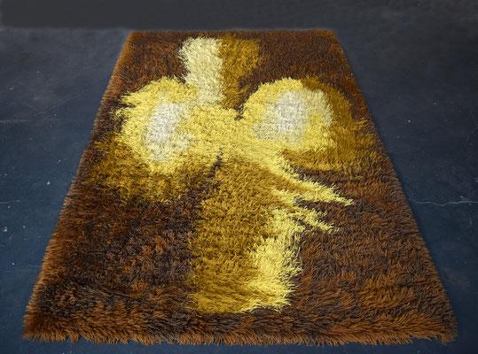Large Vintage Carpet, Op Art, 1970s Carpet, 1960s Carpet, Kunstteppich, Vintage, 70s Rug, 60s Rug, Mid Century, Desso Rug,
