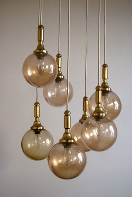 60s Hanging Lamp with golden Balls