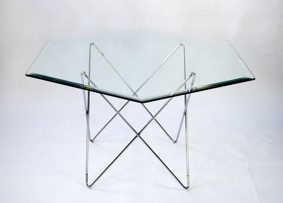 Glass Table 70s, Glas Esstisch 70er Jahre, 60s, 60er Jahre, Glastisch 70er Jahre,