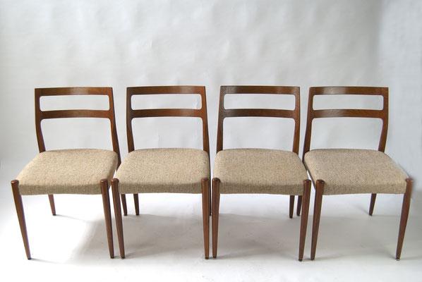 Uldum Møbelfabrik, Johannes Andersen, Stuhl Anne, Esszimmer Stühle 60er Jahre, Stuhl 60er Jahre, Made in Denmark, 60s,