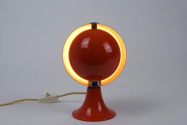 1960s Kugel Tischlampe von Hustadt Leuchten orange