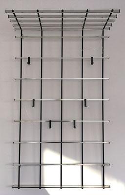 Wandgarderobe Aluminium 60er Jahre