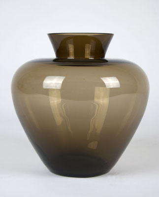 Vase, Wagenfeld, WMF, Herzvase, Turmalin, Rauchglas, 50er Jahre, 50s, 60er Jahre, 60s