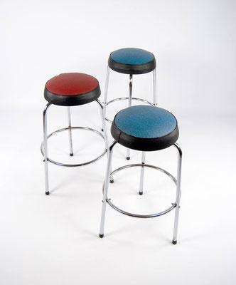 50s Barstool, Barhocker, Vintage, Steeltube, Bauhaus, Thonet, Mauser, Mid Century,