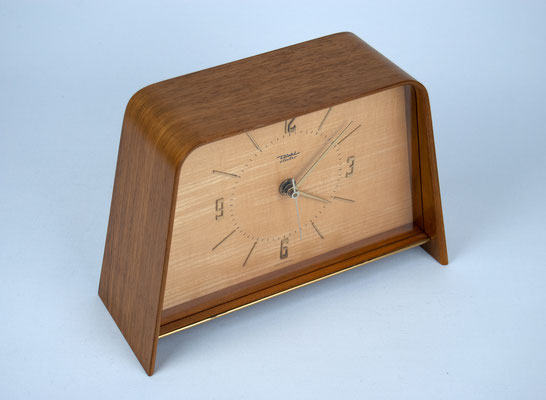 Diehl electro, Vintage Tischuhr, Tischuhr 60er Jahre, Bauhaus, 70s Desk Clock, Mid Century,
