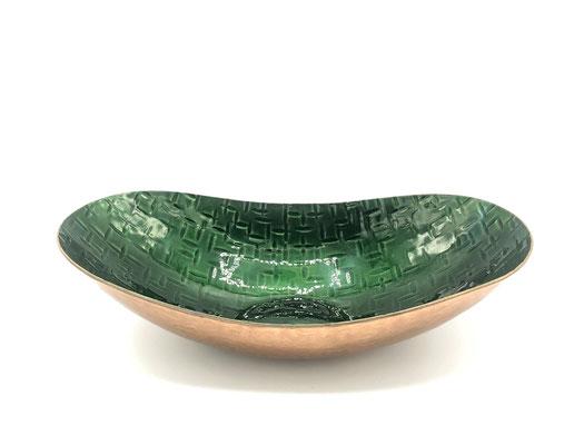 Kupferschale Emallie, 60er Jahre Obstschale, Emaille Schale, 70s, 60s, Mid Century,