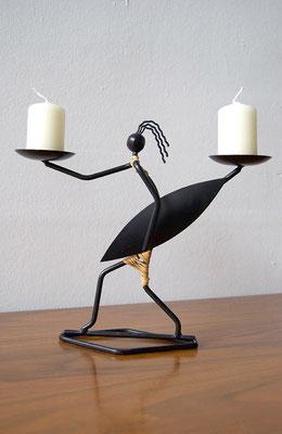 Kerzenhalter, Afrikaner, Kerzenständer 50er Jahre, Hagenauer, Wiener Werkstätte,