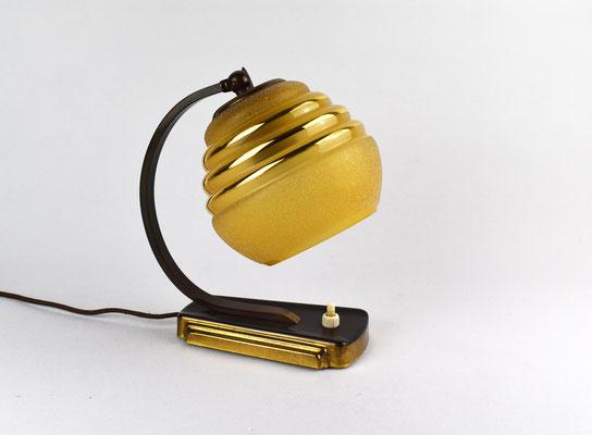 Nachttischlampe Art Deco, Bauhaus Lampe, Tischleuchte, 30er Jahre, Art Deco, Bauhaus, Gropius,