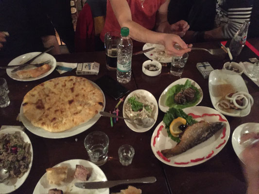 Der Geburtstagsfeier erster Teil - kulinarisch