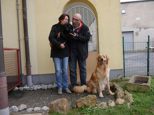 Armano (unser Kleiner) zog als erster , der Hovigeister, zu seinem neuen Herrchen und Frauchen. Zu unserer Freude bleibt er vor Ort .