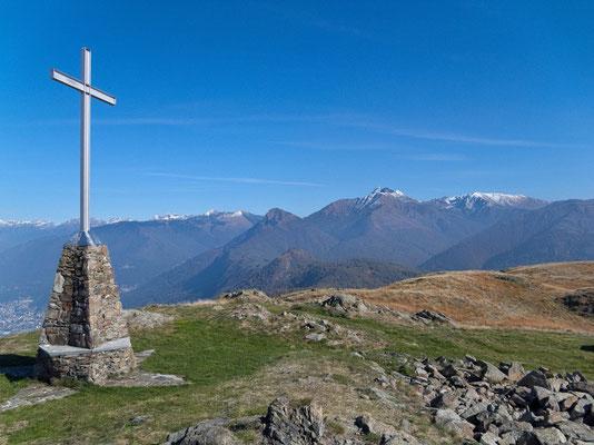 Gipfel der Cima di Medeglia
