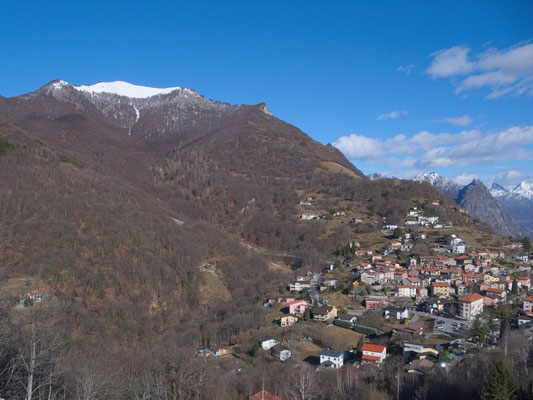über Brè Paese befindet sich der Monte Boglia