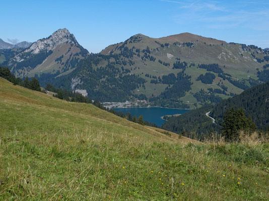 Blick zum Lac de L'Hongrin