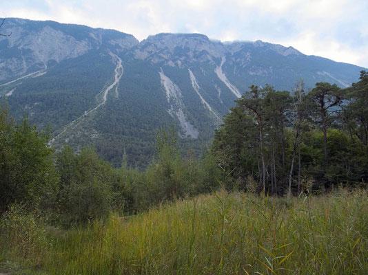Bergsturzgebiet des Gorwetschgrates