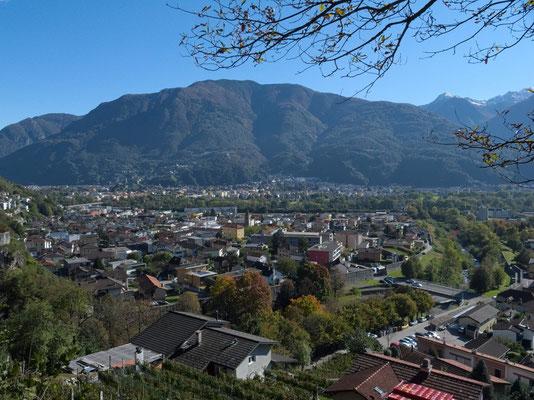 Blick in Richtung Bellinzona