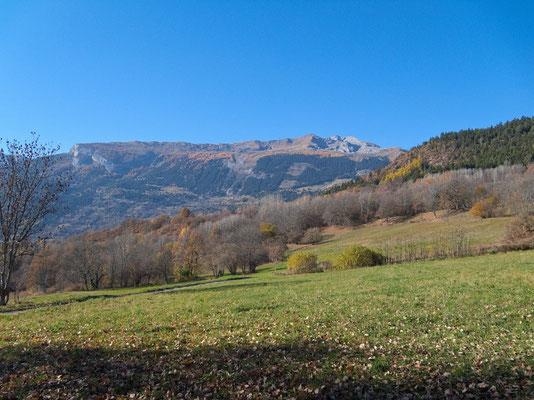 Parkähnliche Weiden oberhalb Savièse
