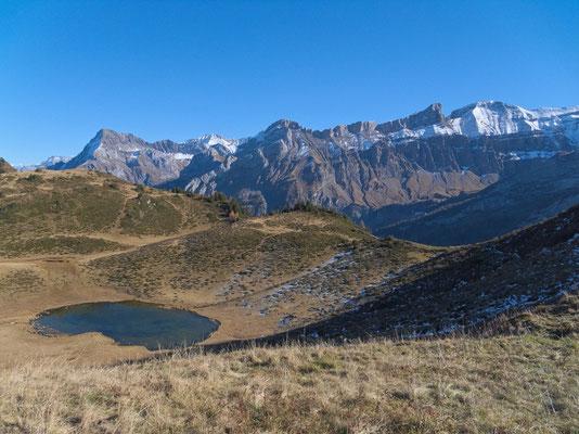 Lac Vieux und Berner Alpen