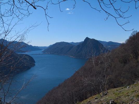 Blick zum Monte San Salvatore
