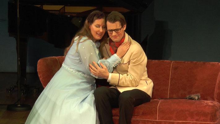 """""""Die Fledermaus"""" Ensemble Oper@Tee (c) Heinz Lasek 2019 Magdalena Renwart, Martin Hulan"""