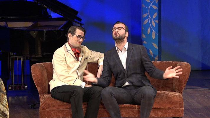 """Die Fledermaus"" Ensemble Oper@Tee (c) Heinz Lasek 2019 MArtin Hulan, Branimir Agovi"