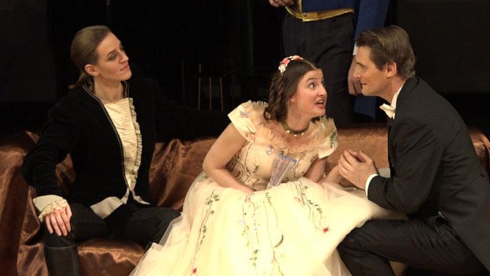 """""""Die Fledermaus"""" Ensemble Oper@Tee (c) Heinz Lasek 2019 Maria Lukasovsky, Alice Waginger, Martin Hulan"""
