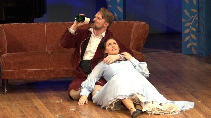 """""""Die Fledermaus"""" Ensemble Oper@Tee (c) Heinz Lasek 2019 Hans-Jörg Gaugelhofer Magdalena Renwart"""