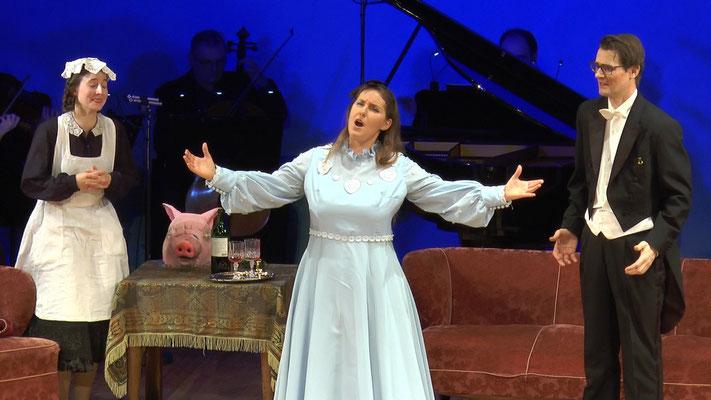 """""""Die Fledermaus"""" Ensemble Oper@Tee (c) Heinz Lasek 2019 Magdalena Renwart"""
