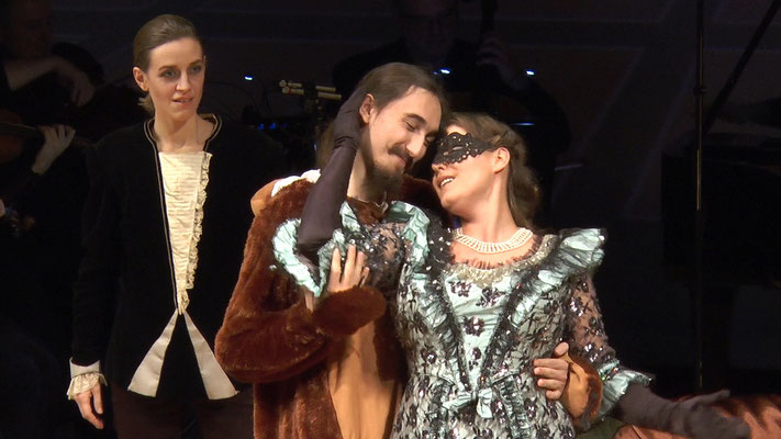 """""""Die Fledermaus"""" Ensemble Oper@Tee (c) Heinz Lasek 2019 Dorian Puchinger, Magdalena Renwart, Maria Lukasovsky"""