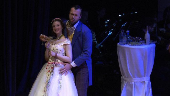 """""""Die Fledermaus"""" Ensemble Oper@Tee (c) Heinz Lasek 2019 Alice Waginger, Branimir Agovi"""