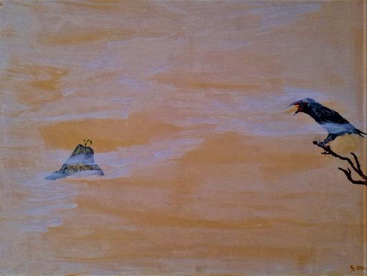Nietzsche | Acryl Spachtel auf Leinwand | 60x80cm
