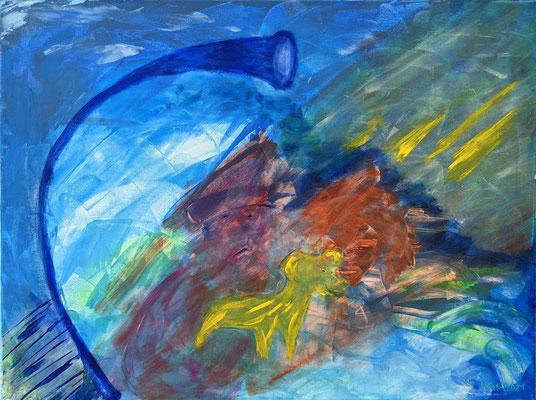 Fantasie in Blau | Acryl Spachtel auf Leinwand | 60x80cm