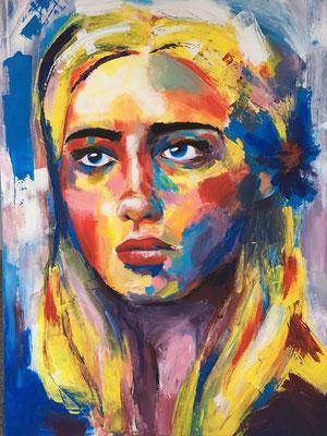 Mädchen | Acrylfarben auf Leinwand | 70cm x 90cm | 2021