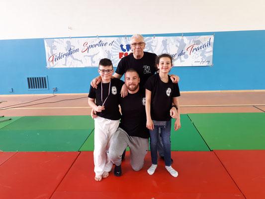 22/04/19 - France FSGT poussins - Paris (75) - Alain, Nicolas, Rym & Rayane