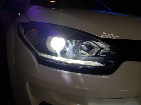RENAULT MEGANE RS LED Umbau H7 LED Philips X-Treme Ultinon