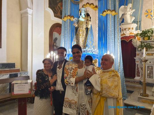 Accoglienza nella Comunità Confraternale di una coppia della Nigeria che inizia il cammino catecumenale e battesimo di Francesco