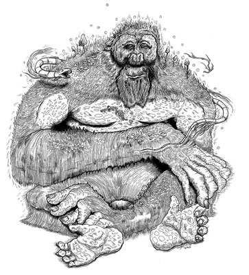 Sasquatch Ink Drawing for International Gallery Pictoplasma in Paris, France.