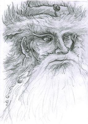 "Halpanyegor the Wizard. Graphite on bristol. 9x12"" $200"