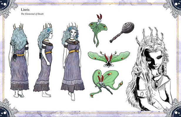 Character Designs for The Tales of Reverie comic series
