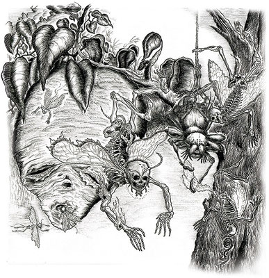 Final ink work for Sakara's album cover
