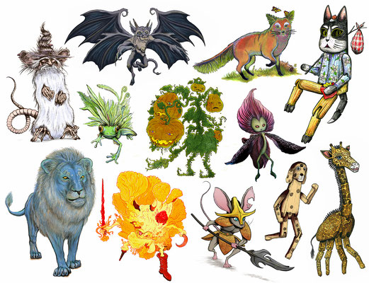 Detailed Fantasy Character Designs