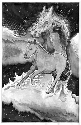 "Finn the Space Pony. 11x14"" Commission."