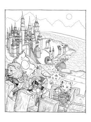The Tales of Reverie Volume II Original Comic Page 01. Pen and Ink on Bristol. 18x24""