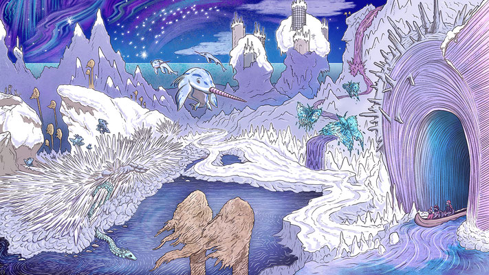 Whimsical environments commission for a private client. Cold Environment 3/3.