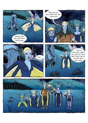 Samples Artwork for The Tales of Reverie ongoing comic series.