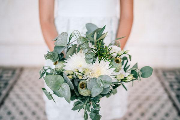 Hochzeitsdeko mit Kräutern // Foto: Chris Eberhardt Photography