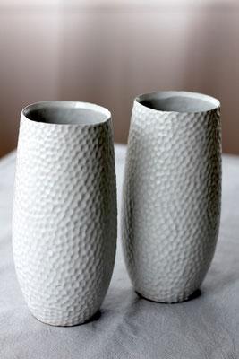 Dekoverleih Vasen Weiß mit Struktur
