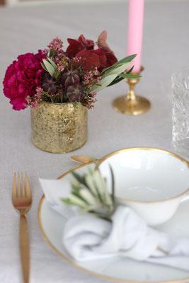 Dekoverleih Vase Gold