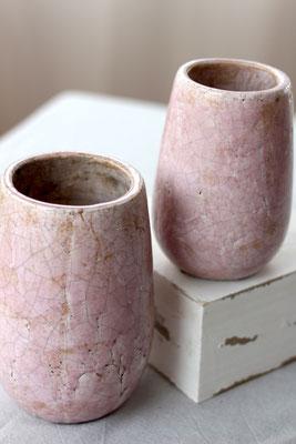 Dekoverleih Vase Rosa 2er-Set mit Struktur