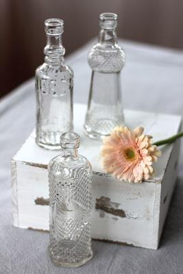Dekoverleih Vasen Gemustert Klarglas