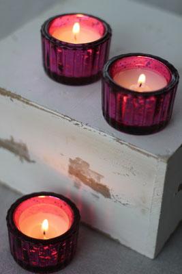 Dekoverleih Teelichthalter Pink